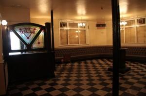 Bar area looking toward front door